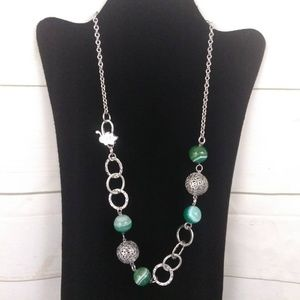 Invicta Made in Italy Glass Marble Necklace Green